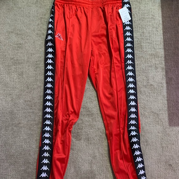 Men's Kappa red track pants